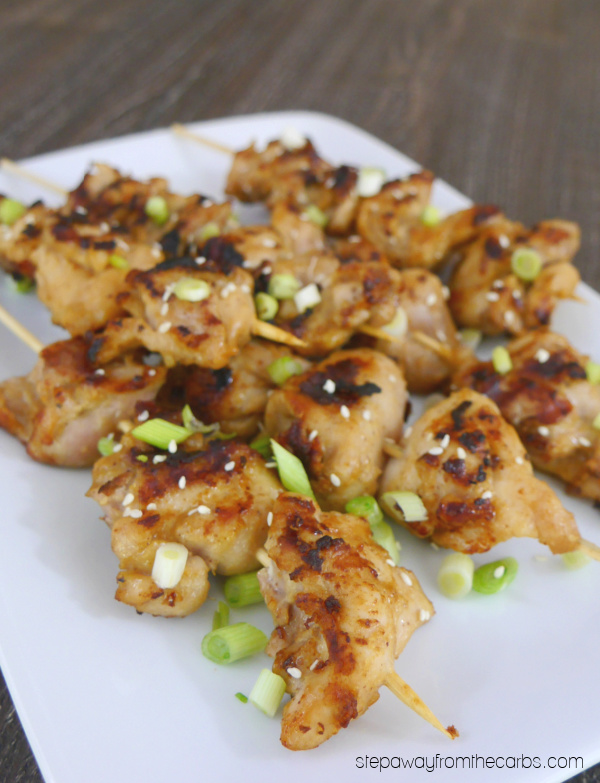 Low Carb Yakitori - marinated chicken on skewers - a classic Japanese dish