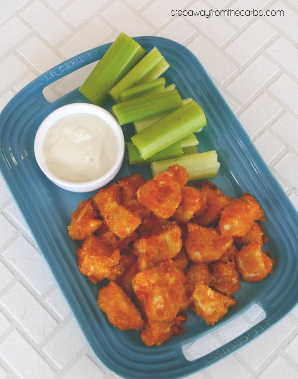 Keto Buffalo Chicken Nuggets - an easy three-ingredient recipe that is gluten free and low carb!