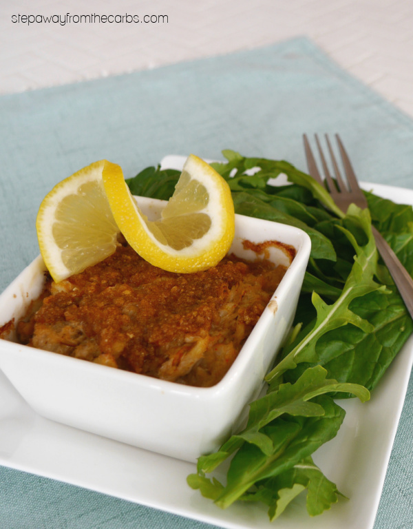 Keto Crab Imperial - a delicious appetizer or lunch dish that is low carb and gluten free!
