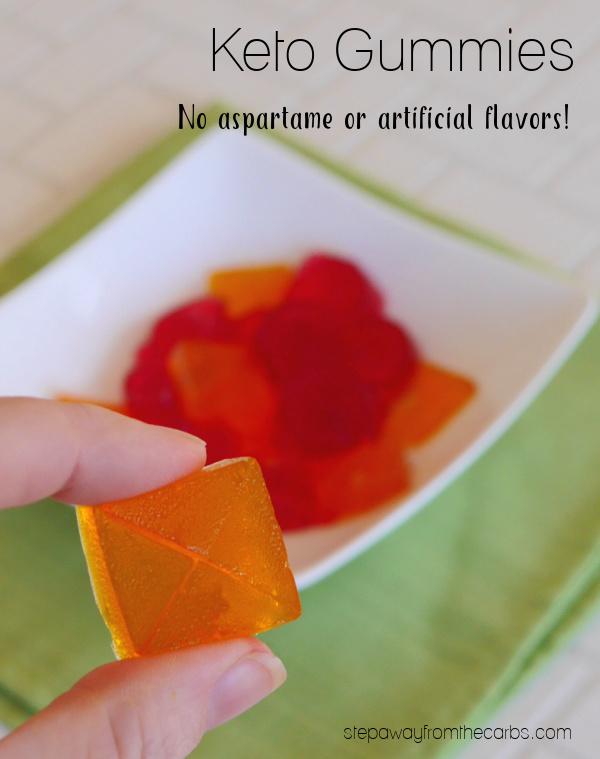 Keto Gummies - a sugar free recipe with no aspartame, gelatin, artificial colors or flavors