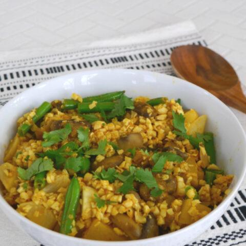 Low Carb Vegetable Biryani
