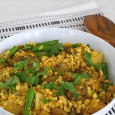 Low Carb Biryani with Vegetables