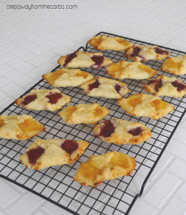 Low Carb Kolacky - my version of these Polish Christmas cookies is made from fathead dough!