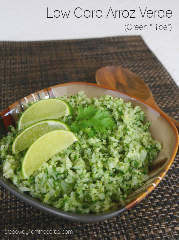 "Low Carb Arroz Verde (Green ""Rice"") - a tasty and healthy Mexican-inspired side dish recipe"