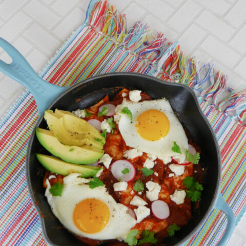 Low Carb Chilaquiles Rojos