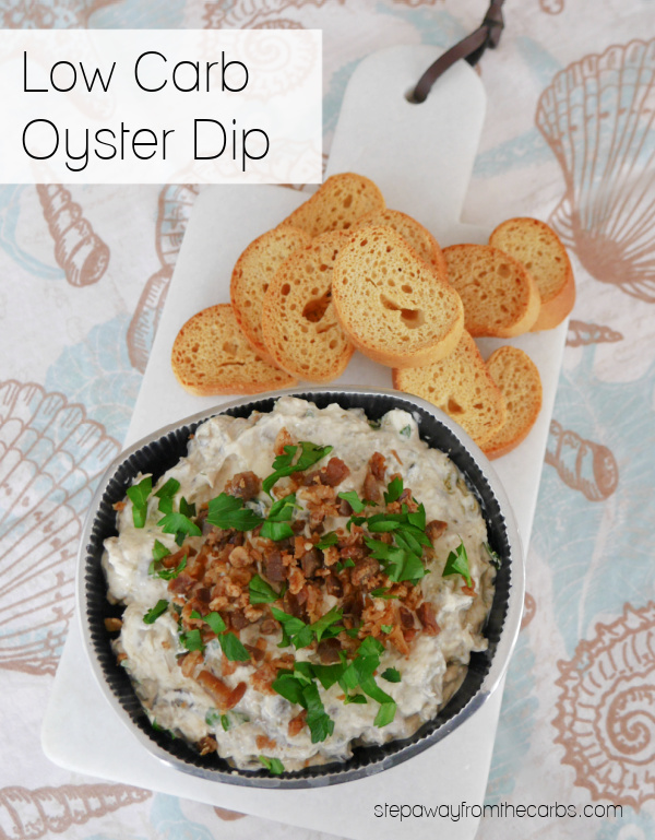 Low Carb Oyster Dip - creamy, salty, and super easy to make!