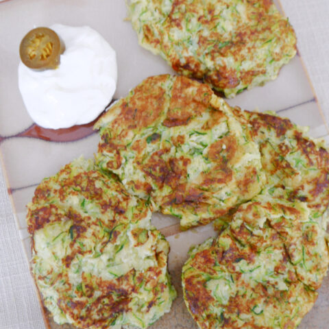 Low Carb Spicy Zucchini Fritters