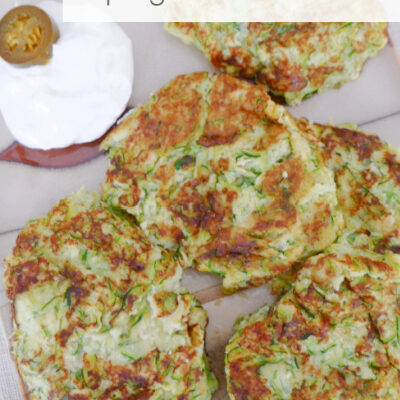 Keto Spicy Zucchini Fritters