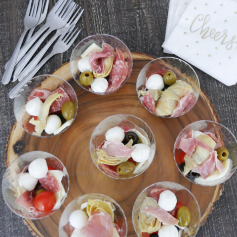 Low Carb Antipasto Cups