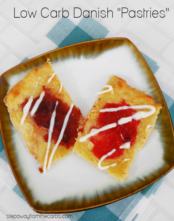 "Low Carb Danish ""Pastries"" - made with sweetened fathead dough and sugar free jam!"