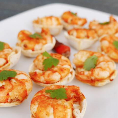 Keto Chipotle Shrimp Taco Cups