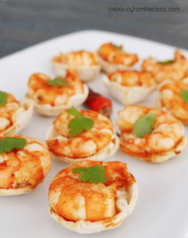 Keto Chipotle Shrimp Taco Cups - a spicy and creamy low carb appetizer or snack!