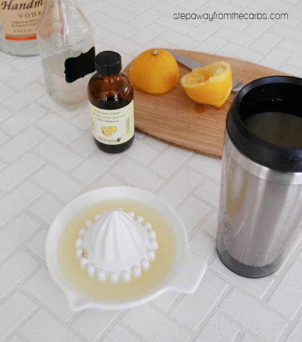 Keto Lemon Chiffon Cocktail - smooth, tangy, sweet, and creamy! Sugar free recipe.