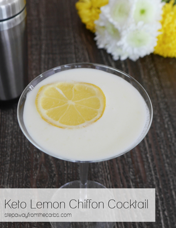 Keto Lemon Chiffon Cocktail - smooth, tangy, sweet, and creamy! Sugar free recipe.
