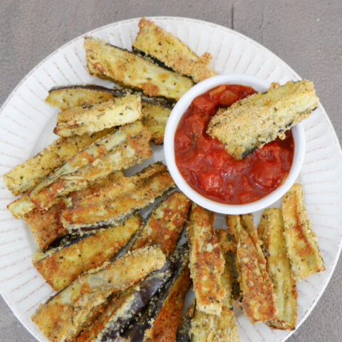 Low Carb Eggplant Sticks