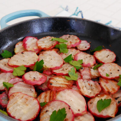 Low Carb Fried Radishes