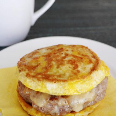 Low Carb Sausage Egg Sandwich