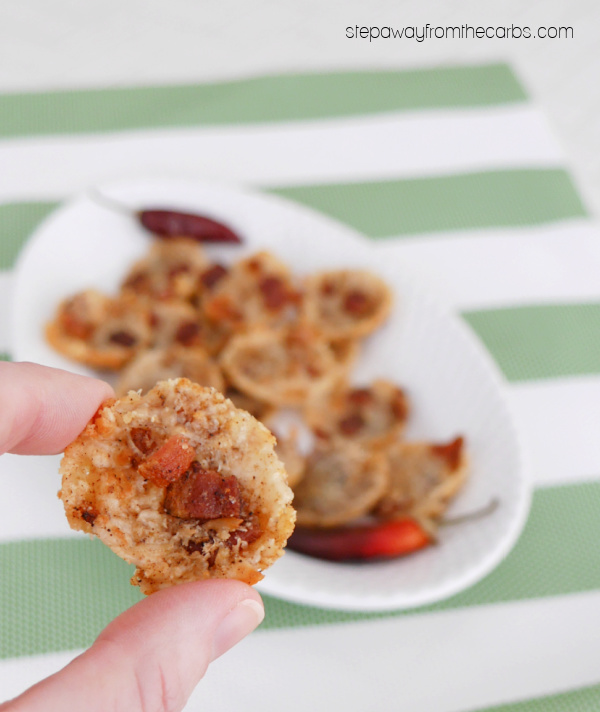 Spicy Bacon Parmesan Crisps - a tasty low carb and keto friendly snack!