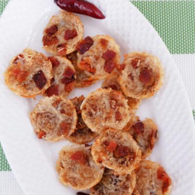Spicy Bacon Parmesan Crisps