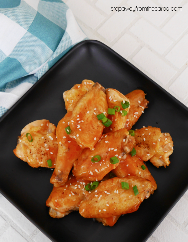 Sugar Free Sweet and Sour Wings - a low carb and keto friendly Chinese appetizer or snack