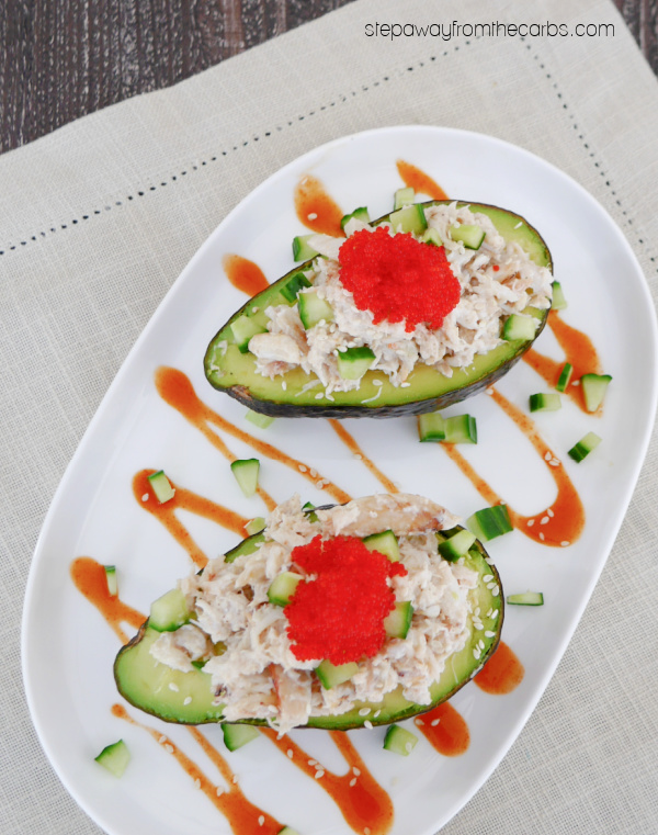 California-Roll-Inspired Stuffed Avocado - an upgraded version that is low carb and keto friendly!