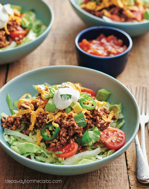 Keto Fiesta Taco Salad - a delicious low carb spin on traditional tacos!