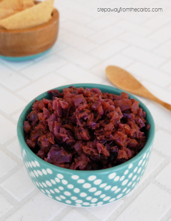 Keto Red Cabbage Chutney - a delicious low carb condiment with Indian spices