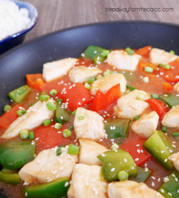 Keto Sweet and Sour Chicken - a sugar free Chinese recipe with homemade sauce