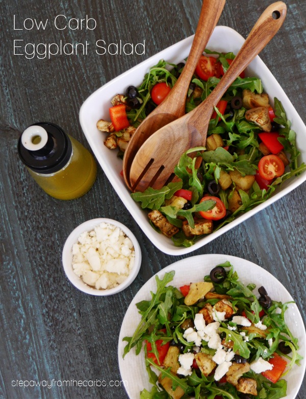 Low Carb Eggplant Salad - a recipe with a fantastic combination of flavors that can be served as for lunch or as a side dish