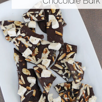 Low Carb Rocky Road Bark