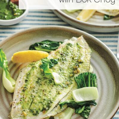 Pesto Flounder with Bok Choy