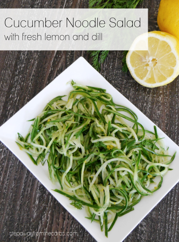 Cucumber Noodle Salad with fresh lemon and dill - a light and refreshing side dish for a hot day