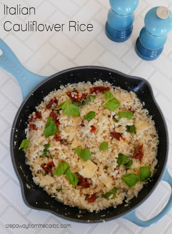 Italian Cauliflower Rice - a low carb dish that can be served as a side dish or vegetarian lunch