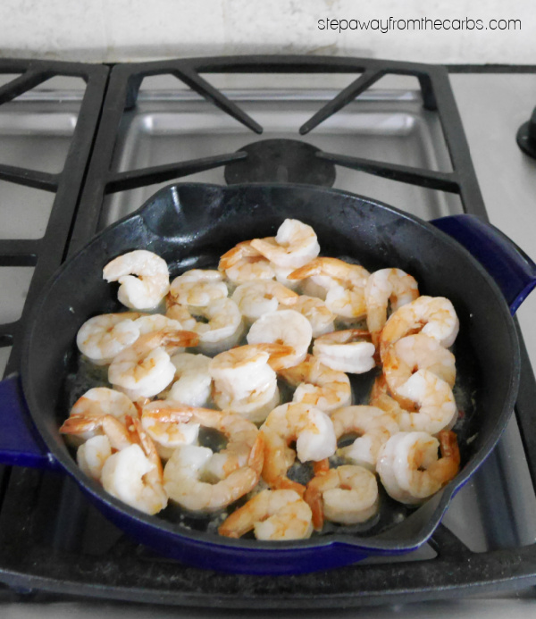 Low Carb Cajun Creamy Shrimp - a keto friendly recipe that is full of bold flavors!