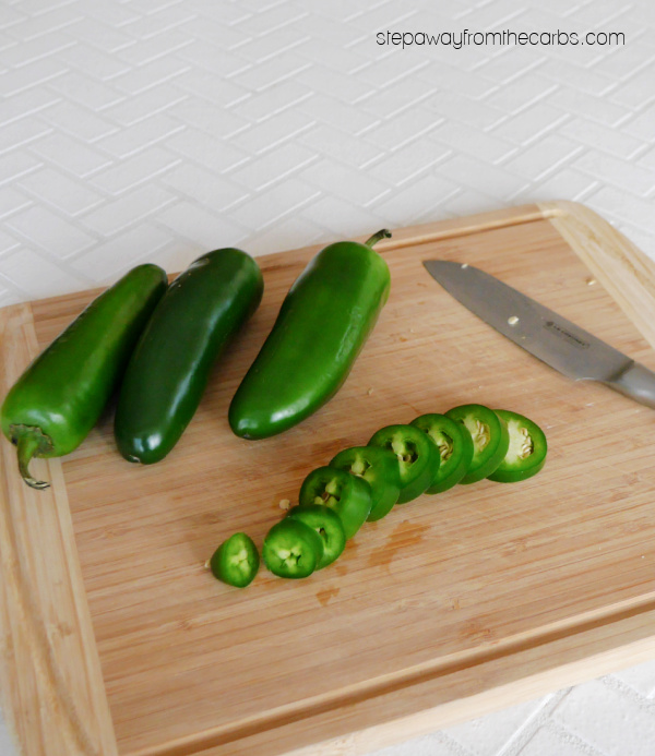 Low Carb Candied Jalapeños - a sweet and spicy condiment that's sugar free and keto friendly!