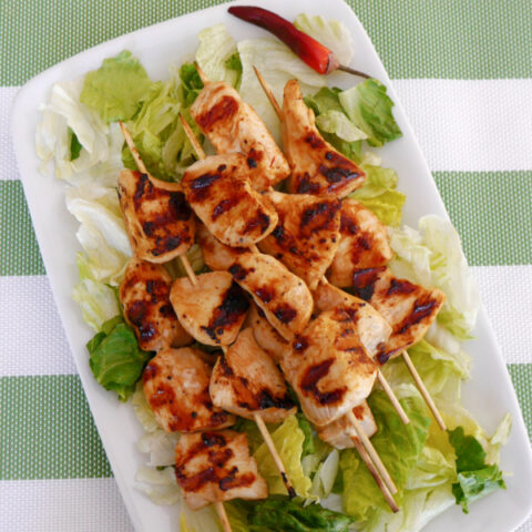 Low Carb Honey Chipotle Chicken Skewers