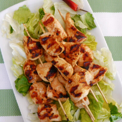 Low Carb Honey-Chipotle Chicken Skewers