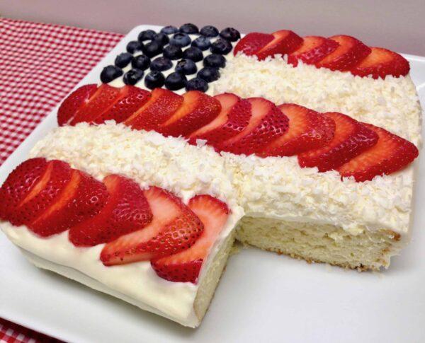 Keto American Flag Cake