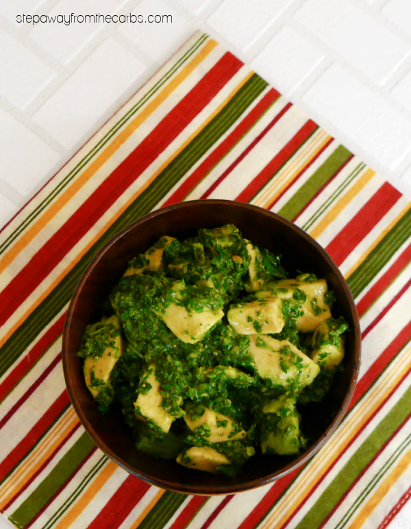 How to Make Avocado Chimichurri - a versatile and flavorful low carb condiment