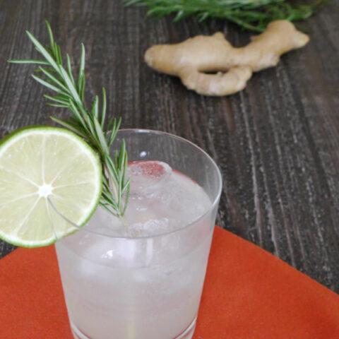 Keto Rosemary & Ginger Cocktail