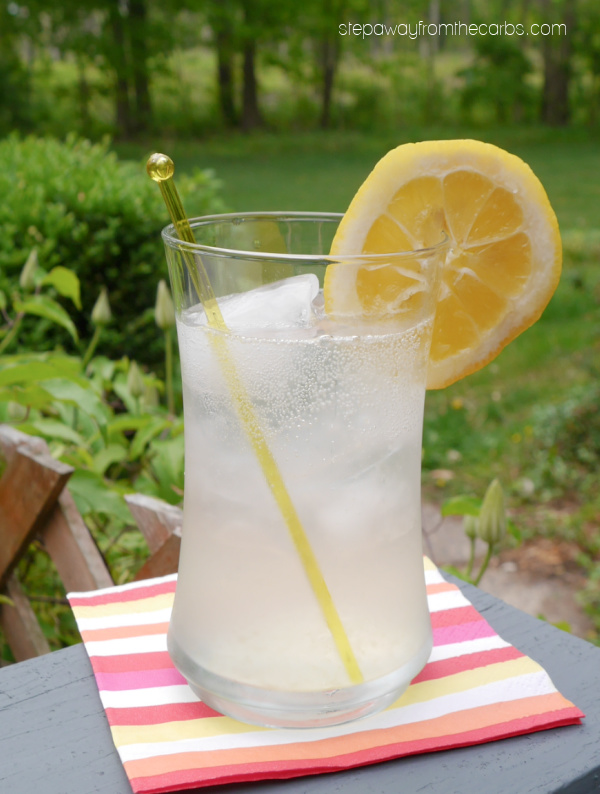 Keto Tom Collins - a gin-based drink with lemon and club soda that's low carb and sugar free!