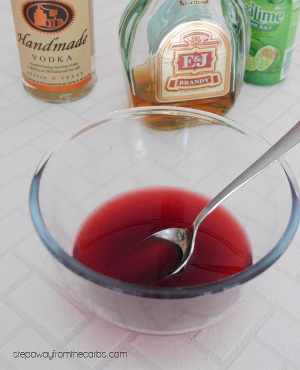 Low Carb Blackberry Liqueur (crème de mûre) - an easy sugar free and keto recipe