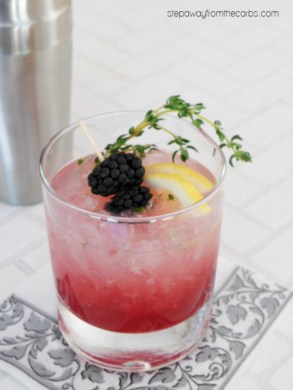 Low Carb Bramble Cocktail - a gin-based fruity drink that's sugar-free and keto friendly