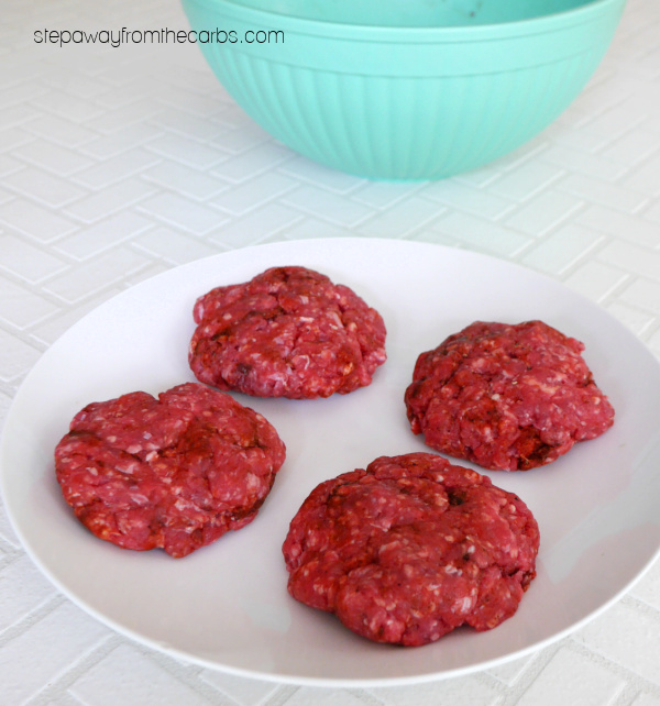 Low Carb Chipotle Burgers - with avocado, bacon, cheese and more, all served in a keto-friendly bun!