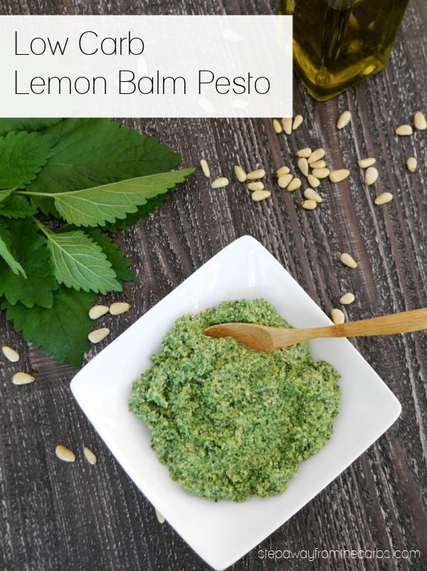 Low Carb Lemon Balm Pesto - a delicious alternative to regular pesto!