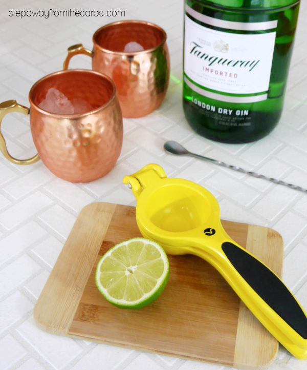 Low Carb London Mule - a gin-based cocktail that's sugar-free and keto friendly!