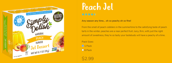 Simply Delish Peach Jel Dessert