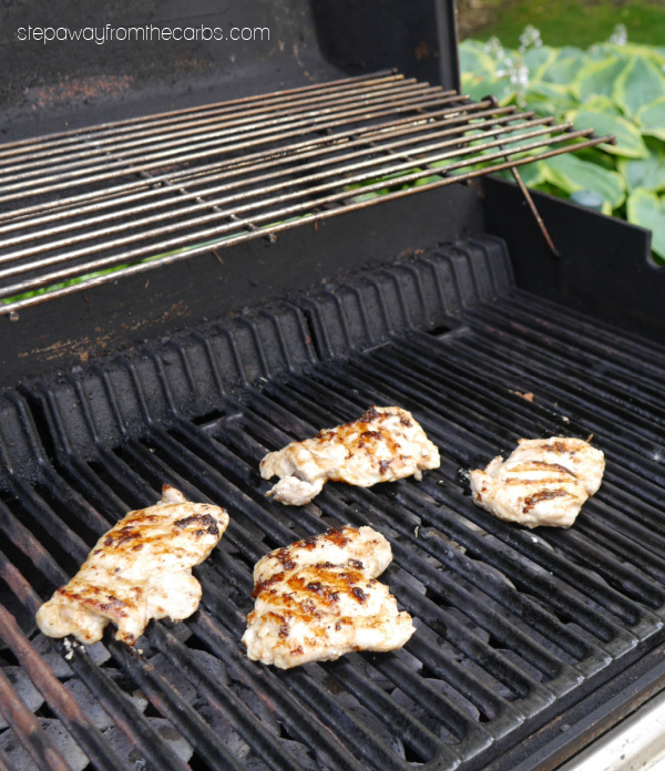 Caesar-Marinated Grilled Chicken Thighs - a delicious low carb and keto recipe with all your favorite Caesar salad flavors!