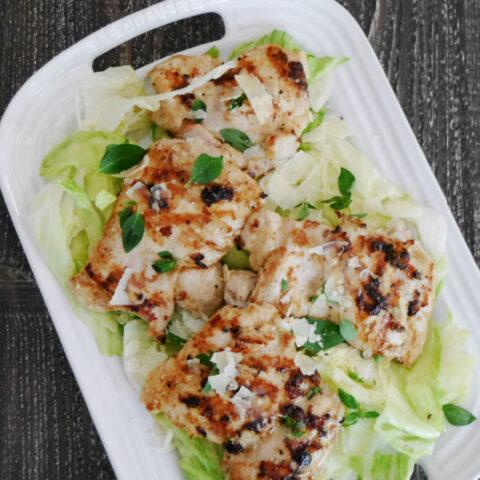 Grilled Caesar Chicken Thighs