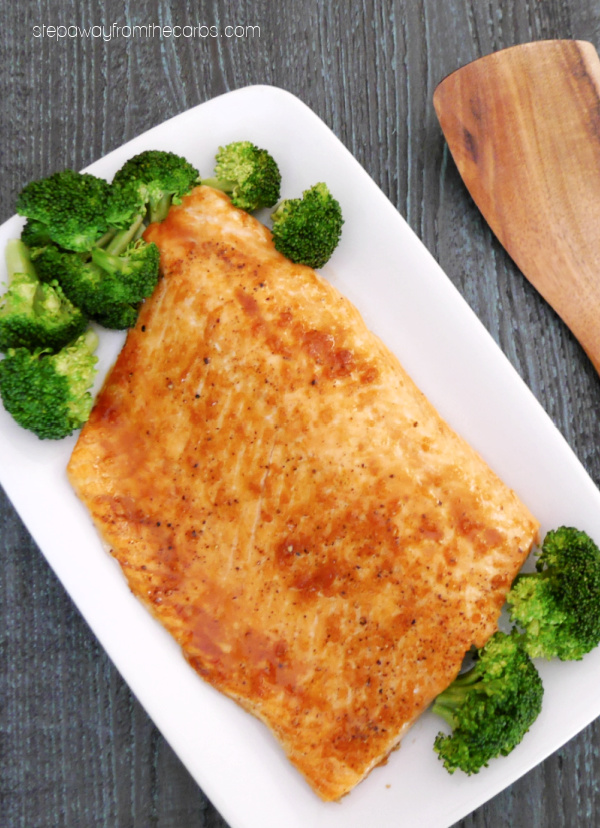 Keto Glazed Salmon - an easy low carb recipe made with sugar free honey